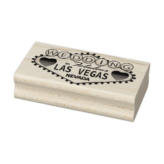 Wedding in Las Vegas Rubber Stamp