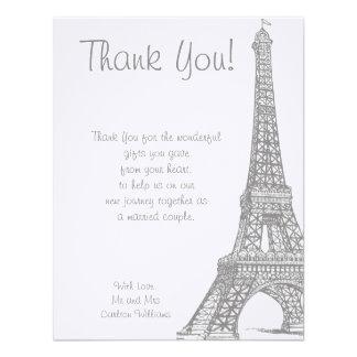 Wedding in Paris Flat Thank You Card