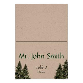 Wedding in the Woods Escort Card