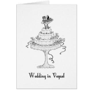 Wedding in Vegas B G on Cake Card