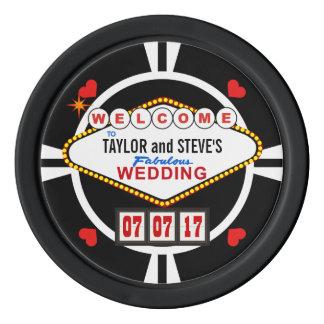 Wedding in Vegas Casino Favor Poker Chips