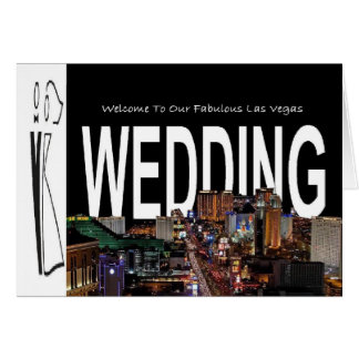 Wedding In Vegas with B G on side Card