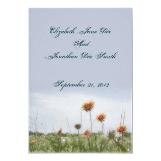 Wedding Indian Blanket Flower Invitation Card