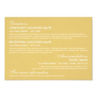 Wedding Information Card | Art Deco Elegant Style 11 Cm X 16 Cm Invitation Card