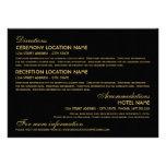 Wedding Information Card | Art Deco Elegant Style Personalised Invites