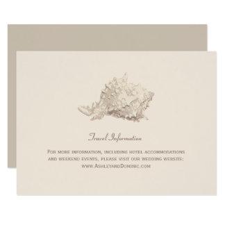 Wedding Information Card   Ivory Seashell