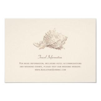 Wedding Information Card   Ivory Seashell 9 Cm X 13 Cm Invitation Card