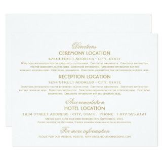 Wedding Information Cards | Gold Vintage Glamour 11 Cm X 14 Cm Invitation Card