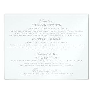 Wedding Information Cards | Silver Vintage Glamour 11 Cm X 14 Cm Invitation Card