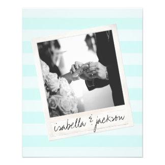 Wedding Instagram Photo Retro frame Custom Text 11.5 Cm X 14 Cm Flyer