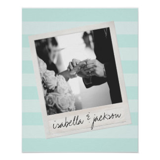 Wedding Instagram Photo Retro frame Custom Text Print