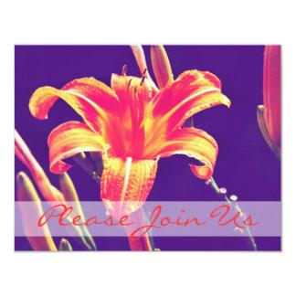 Wedding Invitation - Autumn Lily
