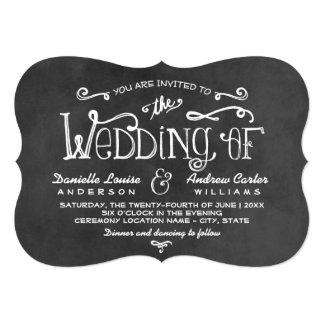 Wedding Invitation   Black Chalkboard Charm