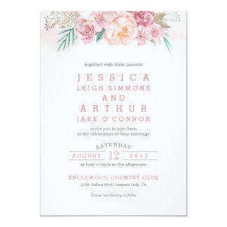 Wedding Invitation | Blush and Blooms
