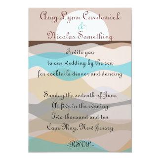 Wedding Invitation by the Ocean Beach Sea Invite