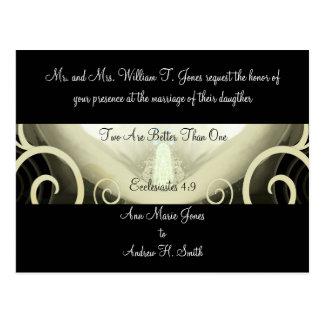 Wedding Invitation Cala Lily Postcard