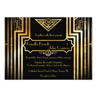 Wedding invitation ceremony, great-Gatsby