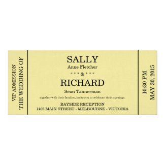 Wedding Invitation (Concert Ticket Styled)