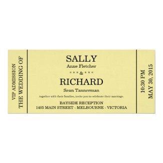 Wedding Invitation (Concert Ticket Styled)
