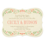 Wedding Invitation   Country Florals Pink Personalized Invitation