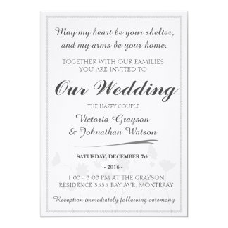 Wedding Invitation - Custom - Elegant - Simple