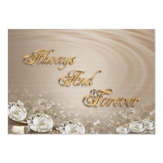 "Wedding Invitation  Diamonds on satin customizable 5"" X 7"" Invitation Card"