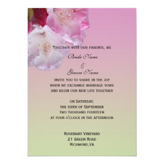 wedding invitation from bride and groom personalized invitation