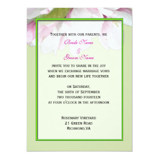 wedding invitation from bride and groom custom announcement
