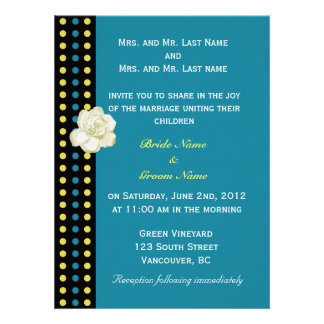 wedding invitation from bride and groom s parents personalized invite
