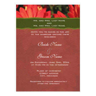 Wedding invitation from bride and groom s parents invitation