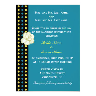 wedding invitation from bride and groom's parents