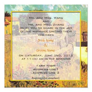 wedding invitation from bride and groom's parents.