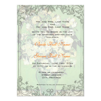 "Wedding invitation from bride and groom's parents 5.5"" x 7.5"" invitation card"