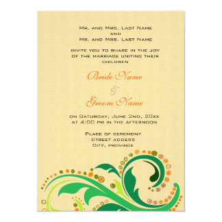 Wedding invitation from bride and groom's parents personalized announcement