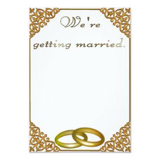 Wedding invitation gilded frame