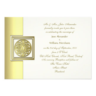 Wedding Invitation Gold Effect Celtic Knot