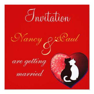 Wedding Invitation In Red
