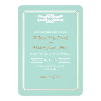 Wedding Invitation | Knot Beach Glam Wedding