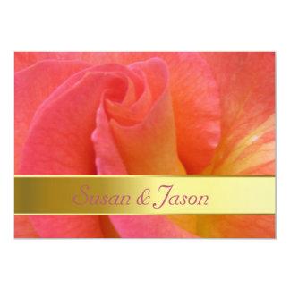 "Wedding Invitation--""Mardi Gras"" Rose Card"