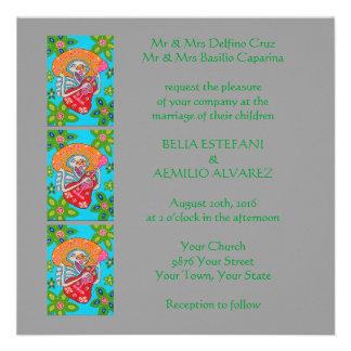 Wedding Invitation Mariachi Serenade Skeleton
