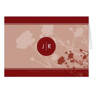 WEDDING INVITATION :: Michelle W. Greeting Card