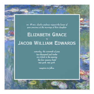 Wedding Invitation // Monet's Waterlilies