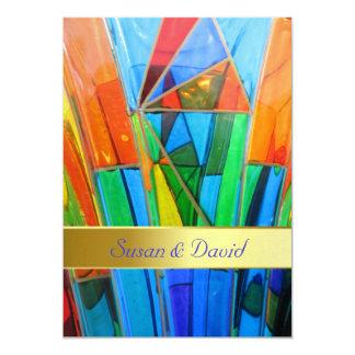 Wedding Invitation--Murano Glass Orange Card