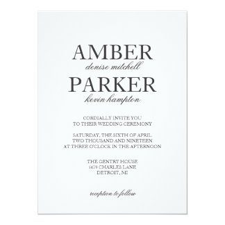 Wedding Invitation | Names