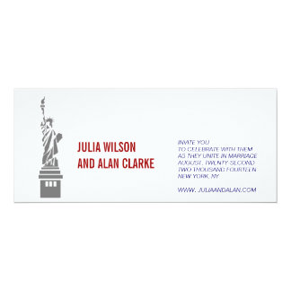 Wedding Invitation New York Red White Blue