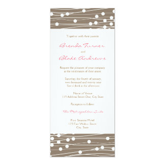 Wedding Invitation - Organic Dots and Lines