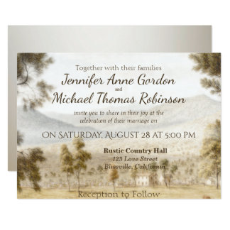 Wedding Invitation Peaceful Meadow
