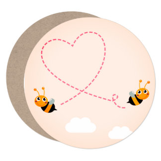 WEDDING INVITATION recycle paper : Love bees