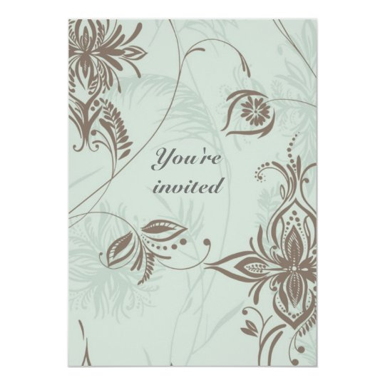 Wedding invitation Romantic Vines Damask
