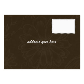 Wedding Invitation - RSVP Card Pack Of Chubby Business Cards